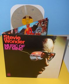 901ef0b7e40d0 STEVIE WONDER music of my mind Lp TAN Marbled Vinyl