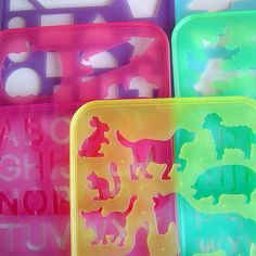 Vintage Tupperware stencils I have these somewhere in my childhood boxes :) My Childhood Memories, Sweet Memories, Vintage Tupperware, 90s Nostalgia, 80s Kids, I Remember When, Ol Days, Stencils, The Good Old Days