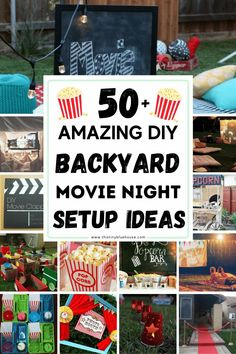 Host an incredibly outdoor movie night with these 50+ genius ideas. From screens and projectors to decor and even food we've collected the BEST outdoor movie night ideas for you! Backyard Movie Party, Outdoor Movie Party, Outdoor Movie Screen, Backyard Movie Nights, Outdoor Movie Nights, Movie Night For Kids, Hot Dog Bar, Pop Corn, Preschool Activities