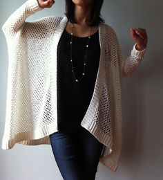 Ravelry: Angela - easy trendy cardigan pattern by Vicky Chan