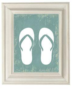 Flip Flops Beach Print