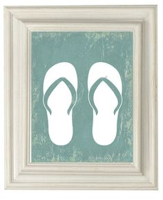 Digital Download No. 332,  Flip Flops Beach Print