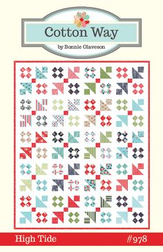 High Tide PDF Pattern - x Fat Quarter Friendly. Fabric on cover Daysail by Bonnie and Camille for Moda. *PDF patterns will . I Spy Quilt, Book Quilt, Batik Quilts, Scrappy Quilts, Mini Quilts, Coastal Quilts, Layer Cake Quilts, Layer Cakes, Girls Quilts