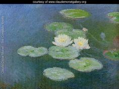 Water Lilies  Evening Effect - Claude Oscar Monet - www.claudemonetgallery.org