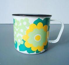 Retro Finel of Finland Mugs Rare Floral by SwirlingOrange11, $58.00
