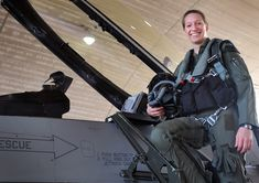 First Lt. Clancy Morrical, 36th Fighter Squadron pilot, stands by her F-16 Fighting Falcon. Morrical is Osan's only female pilot. (U.S. Air Force photo/Senior Airman Alexis Siekert)