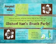 Tropical Beach Party Invitations Check More At Invitationideasorg 2018 InvitationsAnniversary InvitationsBaby