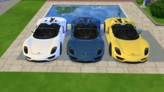 Porsche 918 Spyder Concept by LorySims Lot and screenshots by @colbenuk This concept car, unveiled in 2010, foreshadowed the final look of the 918. DOWNLOAD IT HERE If you like my mods, please follow...