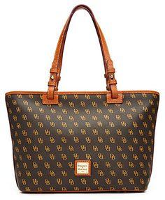 Dooney & Bourke Handbag, Gretta Signature Small Leisure Shopper