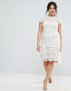 Coast Plus Dee Dee Lace Peplum Dress