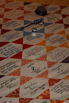 Autograph quilt