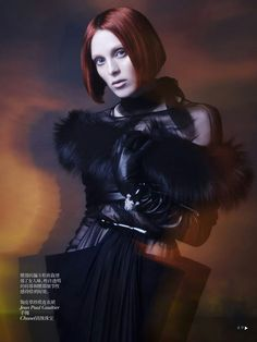 fashion editorials, shows, campaigns & more!: shadow dream: karen elson by sølve sundsbø for vogue china collections fall winter 2013 Marie Claire, Grey Fashion, Fashion Art, Timeless Fashion, Winter Fashion, Karen Elson, Vogue China, Glamour, Vogue Magazine