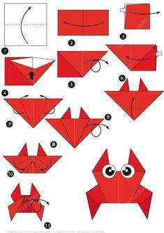 fácil crianças 27 Elegant Image of How To Origami Step By Step . How To Origami Step By Step Ho. 27 Elegant Image of How To Origami Step By Step . How To Origami Step By Step How To Make An Origami Crab Step Step Instructions Free Origami 3d, Origami Design, Origami Fish Easy, Dragon Origami, Easy Origami Animals, Chat Origami, Origami Simple, Easy Origami For Kids, Origami Ball
