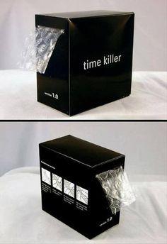 A handy time-killer....#BubbleWrap!