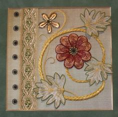 Koala Conventions - Home Alison Cole (Brisbane, Australia) his embroidery is worked on silk dupion using Au Ver a Soie silks and English metal threads and features an Italian braid and antique beads.The floral design is inspired by a doorway that I saw in Rome while travelling in 2010. It has two padding techniques and detached Or Nue petals, organza leaves and a laid purl stem.