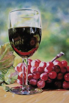 LOOKING GLASS - 12 x 18 Inch Fine Art Print from Pastel Painting Still Life of Horse Reflection in Glass. Title: LOOKING GLASS, 12x18 inch giclee print on Epson 51 lb watercolor paper using high quality pigmented inks. This outdoor still life is focused on a glass of wine which includes a reflections of a grazing horse from the surrounding landscape. This print makes a unique conversation piece for your home decor or kitchen wall art. Print does not include mat or frame.