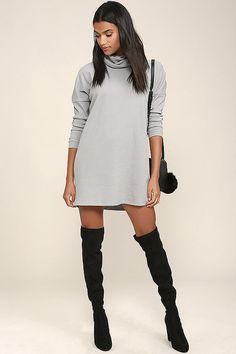 Scheme of Things Grey Long Sleeve Dress 2