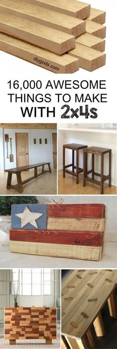 "A DIY collection of 2x4 wood crafts you can build with inexpensive 2"" x 4"" lumber and a great set of plans."