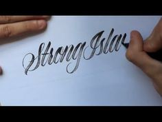 Hand Type for Strong Island (clothing) #calligraphy