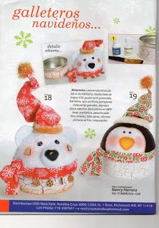 REVISTA PAÑO LENCY FIELTRO NAVIDAD 241 Christmas Home, Christmas Crafts, Christmas Decorations, Christmas Ornaments, Holiday Decor, Christmas Ideas, Winter Wonderland, Projects To Try, Crochet Hats