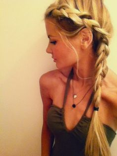 Side braid - Click image to find more Hair & Beauty Pinterest pins