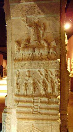 estela funeraria de un auriga bizantino, museo arqueológico de Estambul