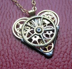 Watch Parts Heart Necklace Equality Clockwork by amechanicalmind