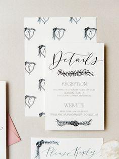 The Regal Suite Semi Custom Wedding Invitation By Jennifer Bianca Calligraphy