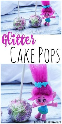 How To Make Glitter Cake Pops Like A Troll. Recipe inspired by the Dreamworks movie Trolls.