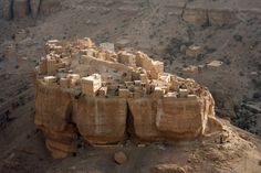 Wadi Dawan, Yemen   Located in central Yemen, this desert valley town is largley noted for its mud brick buildings.