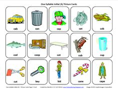 Initial K: Free Speech Therapy Articulation Picture Cards