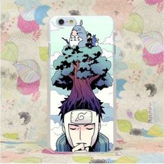 Totoro Cross Naruto Yamato Ninja Cool Creative Concept iPhone 4 5 6 7 Plus Case  #Totoro #Cross #Naruto #Yamato #Ninja #Cool #Creative #Concept #iPhone #4 #5 #6 #7Plus #Case