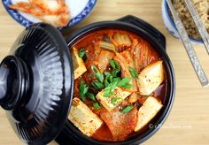 Kimchi Jjigae (Kimchi Stew) - super easy recipe for a classic Korean comfort food