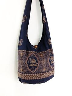 Women bag Handbags Cotton Elephant bag Hippie bag by veradashop
