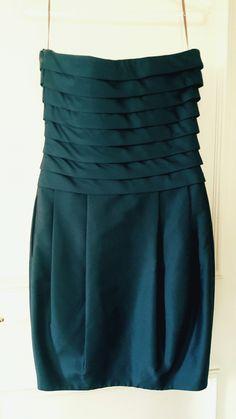 Vestido festa tafetá de seda pura Giuliana Romano azul marinho, tamanho P. Lindo e perfeito para festas e casamentos. 💲500,00