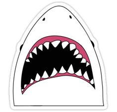 High quality Shark gifts and merchandise. Inspired designs on t-shirts, posters, stickers, home decor, and more by independent artists and designers from around the world. Stickers Cool, Stickers Kawaii, Printable Stickers, Laptop Stickers, Planner Stickers, Stickers Tumblr Png, Ragnor Fell, Black And White Stickers, Snapchat Stickers