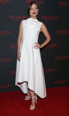 Olivia Wilde attends the Revlon Love Is On Million Dollar Challenge in New York on Wednesday.