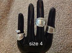 Spoon rings $33 Spoon Rings, Knife Block