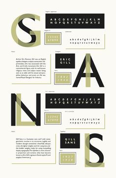 Gill Sans Type Specimen on Behance