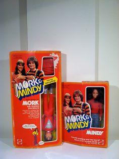 Vintage Mork and Mindy dolls 1979.
