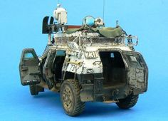 """Apocalyptic Japanese Police Car "" TAMIYA 1/35 scale JGSDF Light armored vehicle. By Jamie 'Haggis' Haggo. #model_cars #scale_model"