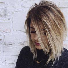 Cieniowane fryzury dla średnich i długich włosów - ponad 30 nowych, gorących propozycji