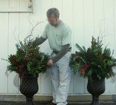 Winter Porches | Creating Outdoor Holiday/Winter-season Porch Pots
