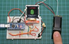Build a fingerprint locking system with Arduino Nano http://www.instructables.com/id/Arduino-Fingerprint-Sensor-Tutorial