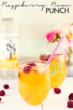Try out this super refreshing and delicious Raspberry Rum Punch recipe!