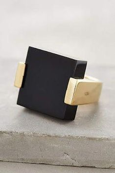 Black Gold Jewelry Terra Preta Ring by Jules Smith Jewelry Box, Jewelry Rings, Jewelry Accessories, Fine Jewelry, Jewelry Design, Chunky Jewelry, Geometric Jewelry, Modern Jewelry, Contemporary Jewellery