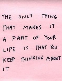 once you stop thinking about it...poof! be gone :)