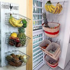 E vamos lá arrumar espaço extra para #organizar a #cozinha ? No #SimplesDecoracao ! Link no perfil  #Organização Basket, Creative, Kitchen, Instagram Posts, Diy, Ideas Para, Pantry, Floor Plans, Home Decor