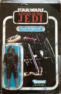 Imperial Tie Fighter Pilot on card