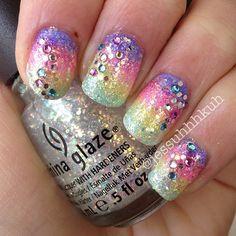 ✧ Loose glitter & Rhinestones. ✧  @Jessica Chasar